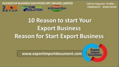 10 Reason to start Your Export Business Reason for Start Export Business