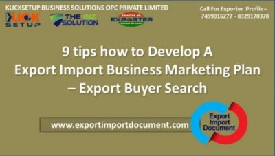 9 tips how to Develop Export Import Business Marketing Plan | Start Export