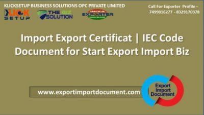 Import Export Certificate | IEC Code Document for Start Export Import Biz