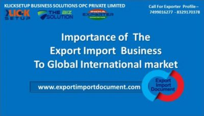 Importance of The Export Import Business To Global International market