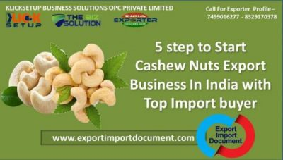 5 step to Start Cashew Nuts Export Business In India with Top Import buyer