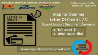 Step for Opening Letter Of Credit L / C | Export-Import Document Payment