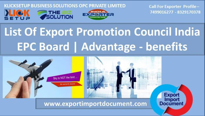 Export Import Document - Export Promotion Council India & EPC Board