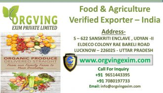 Organic Food & Agriculture Exporter Verified seller from India-orgvingexim.com