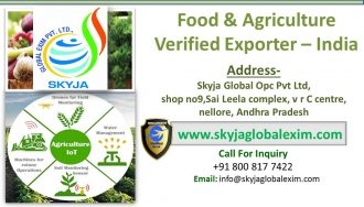 Verified Indian exporter food and agriculture seller Nellor skyja exim