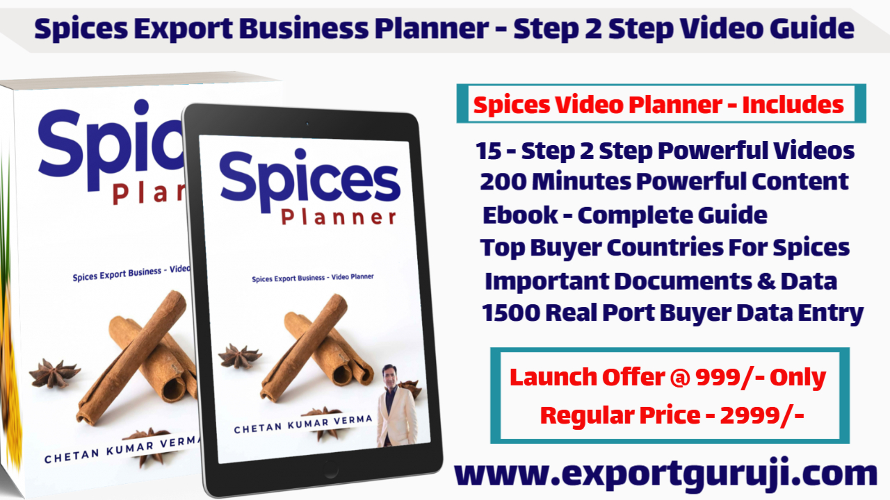 Spices Export Business Training & Course How To Start Spices Export